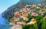 Amalfi Coast - Positano, old fisherman's village today great touristic attraction set in the heart of the Amalfi Coast and the Mediterranean