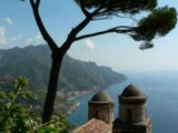Amalfi Coast - Ravello, relaxing panoramas, natural theatre stages, blue mediterranean, rugged coast, music...paradise